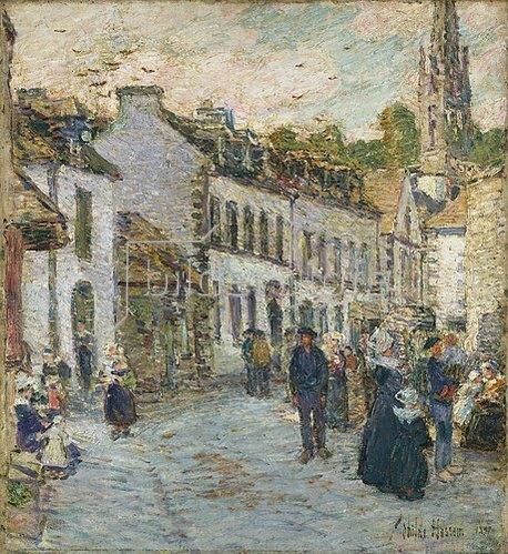 Frederick Childe Hassam: Abends auf einer Strasse in Pont-Aven. 1897