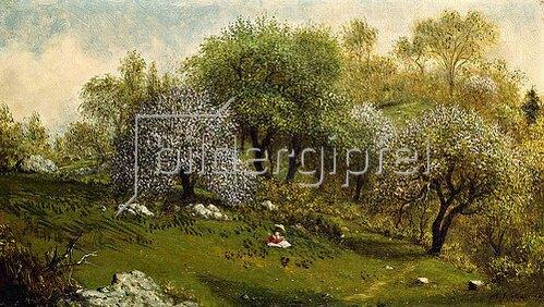 Martin Johnson Heade: Unter blühenden Apfelbäumen. 1874