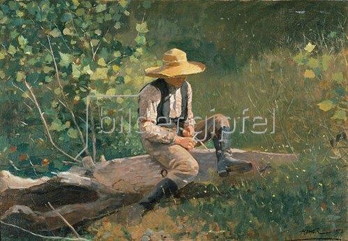 Winslow Homer: Schnitzender Junge.