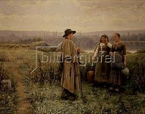 Daniel Ridgway Knight: Gespräch mit dem Schafhirten.
