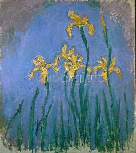 Claude Monet: Gelbe Iris.  1918-25