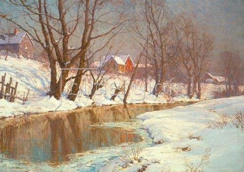 Walter Launt Palmer: Wintermorgen am Bach.