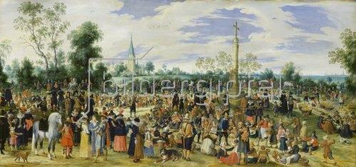 Sebastian Vrancx: Wallfahrer bei einer Stadt. 1622.