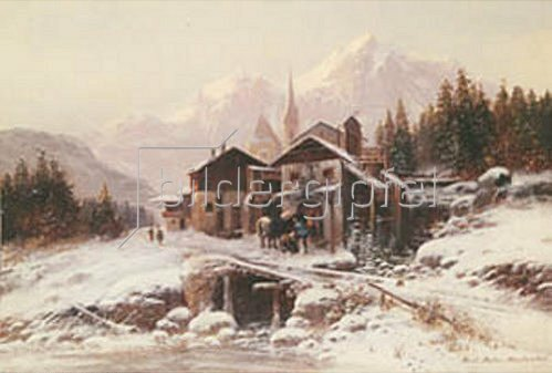 Horst Hacker: Dorfschmiede im Gebirge. 1885