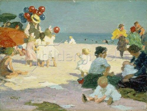 Edward Henry Potthast: Strandleben.