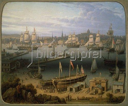 Robert Salmon: Der Hafen von Boston.