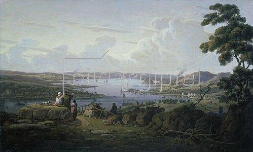 Robert Salmon: Blick auf Dunbarton und den Clyde.