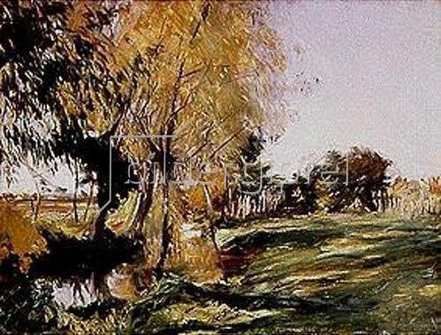 John Singer Sargent: Herbstliches Bach-Ufer.