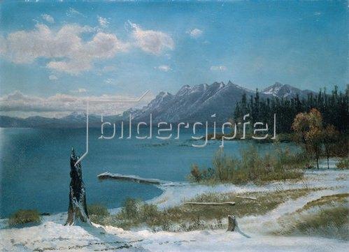 Albert Bierstadt: Winterlicher Lake Tahoe.