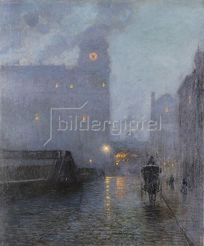 Lowell Birge Harrison: Abend an der Grand Central Station.