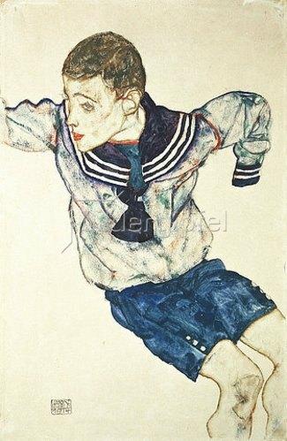 Egon Schiele: Knabe in Matrosenanzug. 1914.