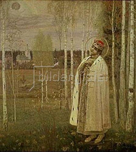 Michail Wassiljew Nesterow: Die Erscheinung des ermordeten Prinzen Dimitri. 1889.