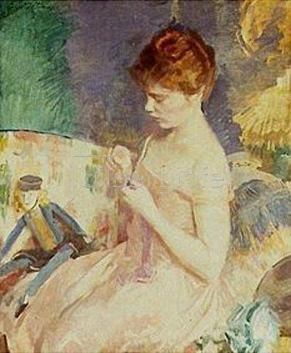 Cecilia Beaux: Beim Nähen von Puppenkleidern.