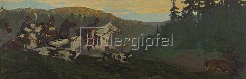 Nikolai Konstantinow Roerich: Der Prinz bei morgendlicher Elchjagd.