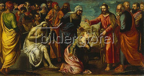Tintoretto (Jacopo Robusti): Die Auferweckung des Lazarus.