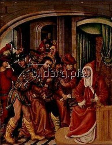 Süddeutsch: Christus vor Kaiphas.