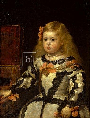 Diego Rodriguez de Velazquez: Die Infantin Maria Marguerita, Tochter Philipps IV. von Spanien. 1654