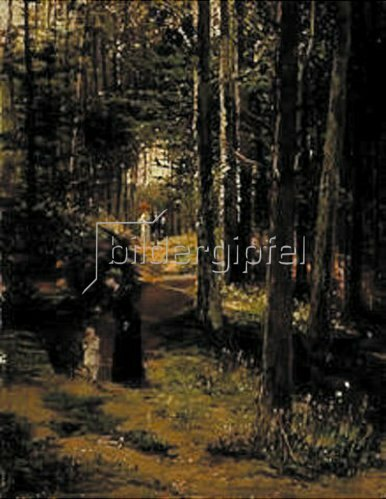 Hugo Mühlig: Spaziergang im Wald. 1881.
