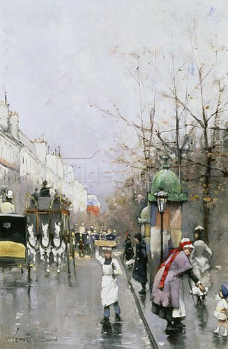 William Feron: Strasse in Paris.