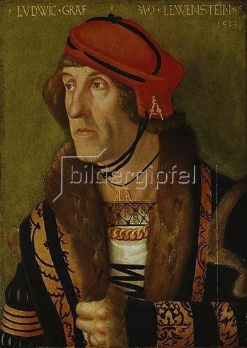 Hans Baldung (Grien): Graf zu Löwenstein, Bildnis, 1513