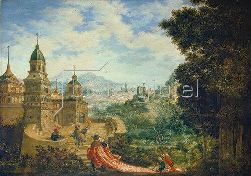 Albrecht Altdorfer: Allegorie. Der Bettel sitzt der Hoffart auf der Schleppe. 1531.