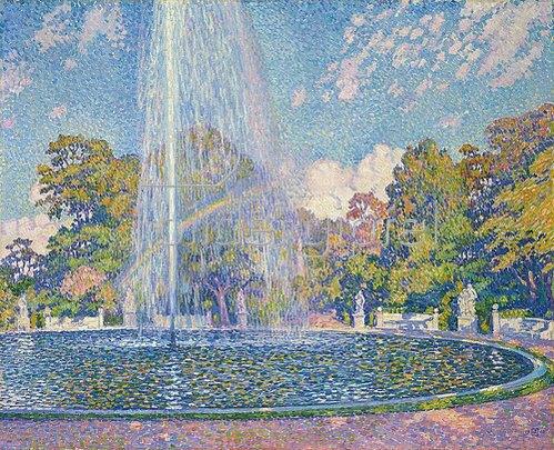 Theo van Rysselberghe: Springbrunnen in Sanssouci. 1903.