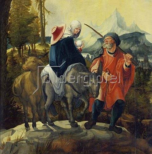 Wolf Huber: Die Flucht nach Ägypten. Um 1525/30.