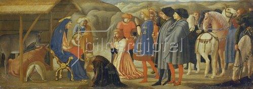 Masaccio: Die Anbetung der Könige (Mitteltafel einer Altarpredella). 1426.
