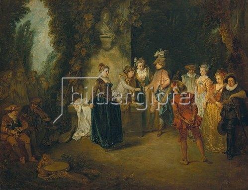 Jean Antoine Watteau: Die französische Komödie. Nach 1716