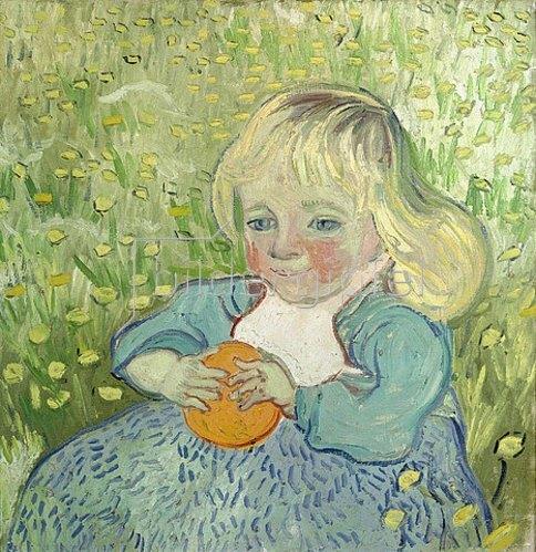 Vincent van Gogh: Kind mit Orange. Auvers-sur-Oise, Juni 1890.