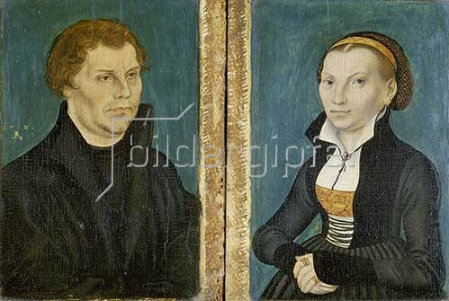 Lucas Cranach d.Ä.: Martin Luther und Katharina von Bora (Zwei Gemälde). 1529.