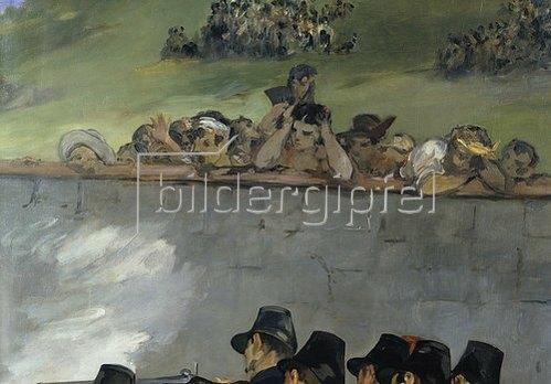 Edouard Manet: Die Erschiessung Kaiser Maximilians von Mexico 1867. Detail: Zuschauer.