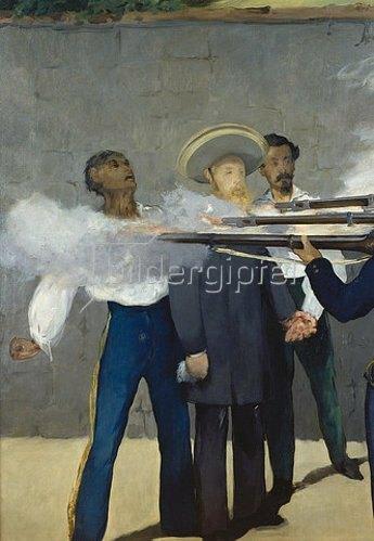 Edouard Manet: Die Erschiessung Kaiser Maximilians von Mexico 1867. Detail: Der Kaiser.