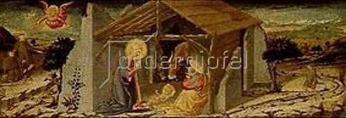 Neri di Bicci: Die Geburt Christi. Um 1480.