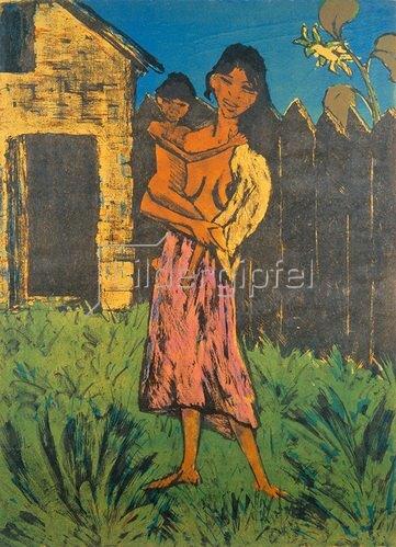 Otto Mueller: Junge Zigeunermutter.