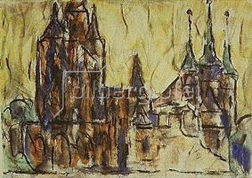 Christian Rohlfs: Erfurt, Dom und St.Severi.