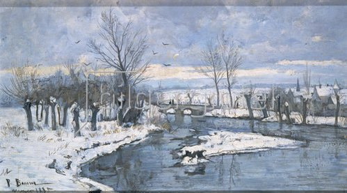 Paul Baum: Winterlandschaft an der Ilm bei Oberweimar. 1885.