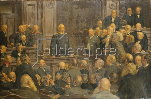 Ernst Henseler: Bismarcks letzte Reichstagsrede am 6.Februar 1888. (Entstanden 1901)