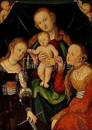 Lucas Cranach d.Ä.: Die Verlobung der hl.Katharina.