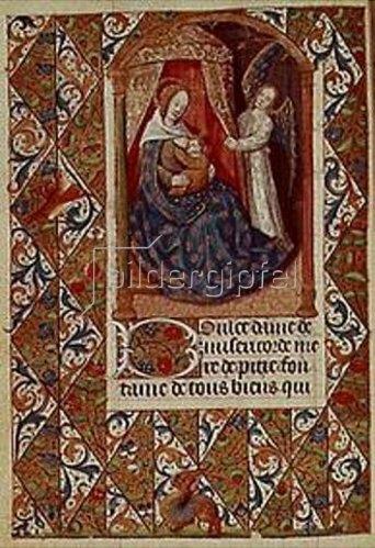 Handschrift: Madonna mit Kind.Aus einem französischen Stundenbuch. Memb.II 176, 227v