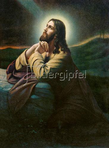 Anonym: Christus am Ölberg. Nazarenerstil der Romantik.