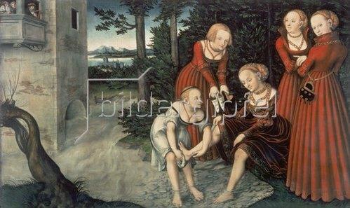 Lucas Cranach d.Ä.: David und Bathseba.
