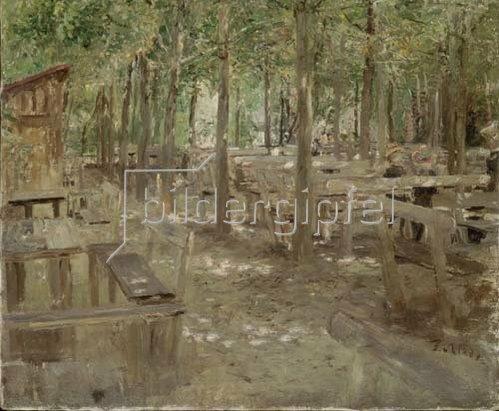 Fritz von Uhde: Biergarten in Dachau. 1888