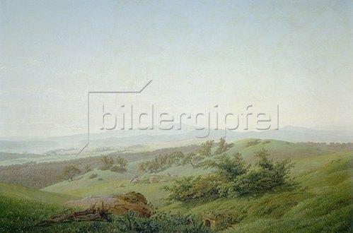 Caspar David Friedrich: Böhmische Landschaft.