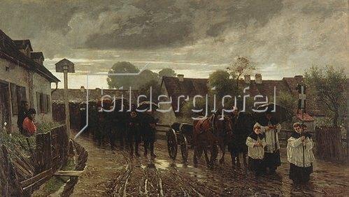 Leopold Graf von Kalckreuth: Dachauer Leichenzug.