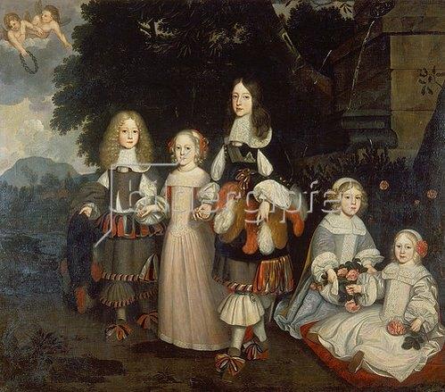 Abraham Ragueneau: Wilhelm III. von Oranien mit Vettern und Nichten.