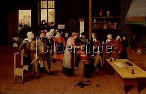 Maerten van Cleve: Das Steinschneiden.