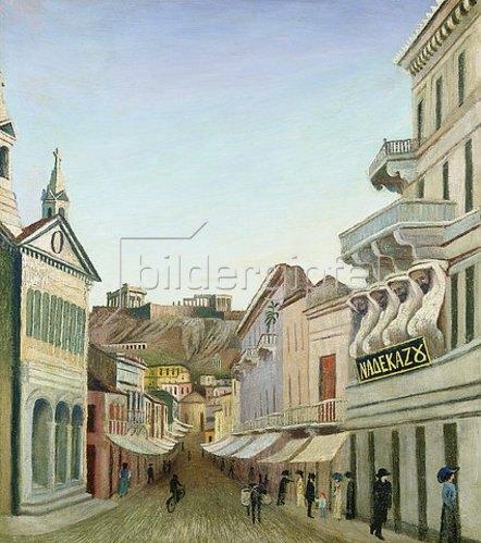 Tivadar Csontváry-Kosztka: Strasse in Athen.