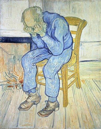 Vincent van Gogh: An der Schwelle zur Ewigkeit (Treurende oude man). 1890