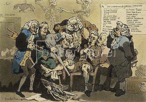 Thomas Rowlandson: Die Amputation. 1793.